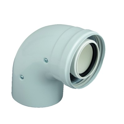 Coude coaxial 90° M/F 60/100 INT PP. - COSMOGAS : 62617234