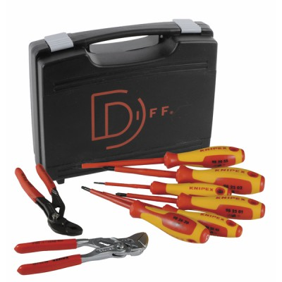 Mallette indispensable outillage 8 pièces - KNIPEX - WERK : 902515