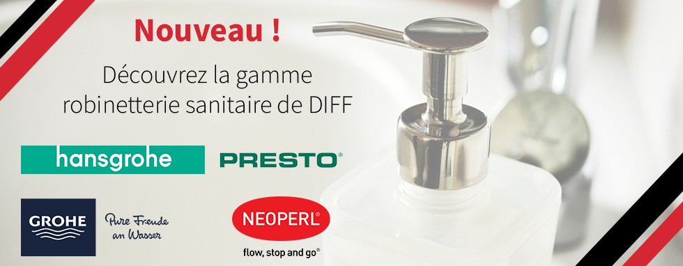 Gamme robinetterie sanitaire DIFF